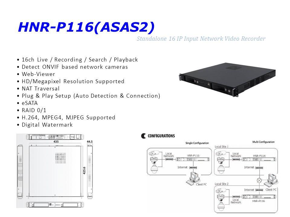 HNR-P116(ASAS2) Standalone 16 IP Input Network Video Recorder