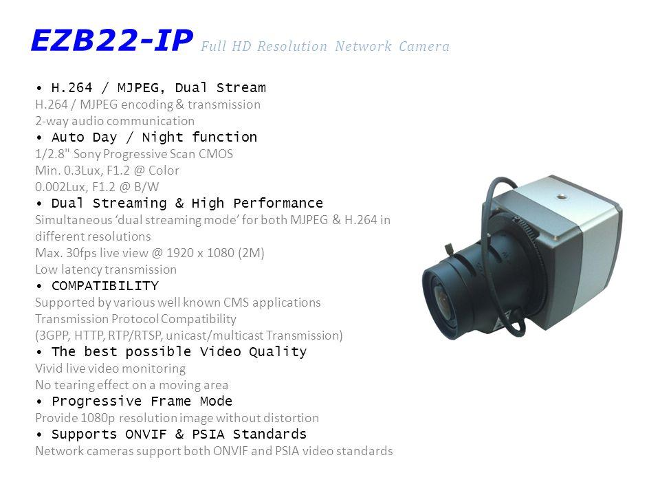 EZB22-IP Full HD Resolution Network Camera