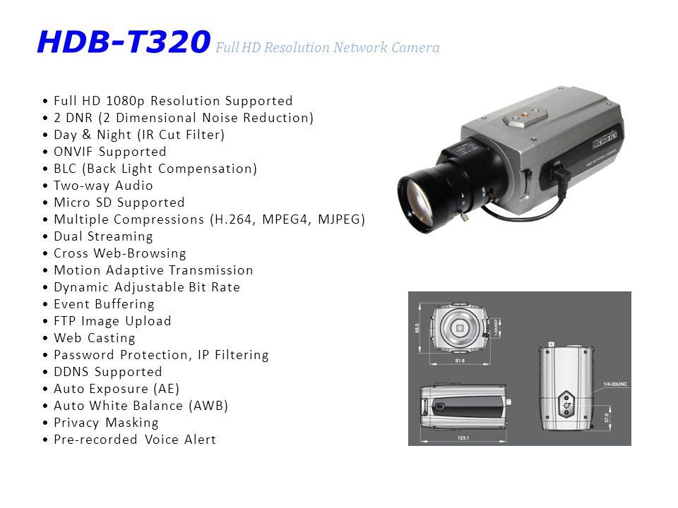 HDB-T320 Full HD Resolution Network Camera
