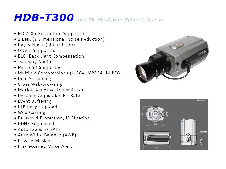 HDB-T300 HD 720p Resolution Network Camera