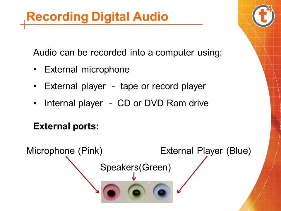 Recording Digital Audio
