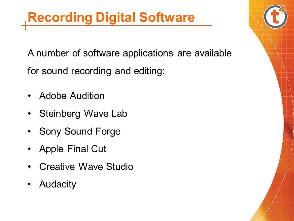 Recording Digital Software