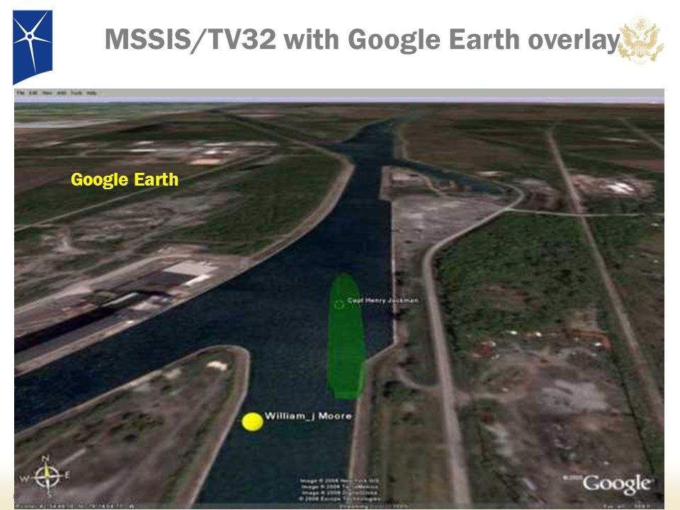 MSSIS/TV32 with Google Earth overlay