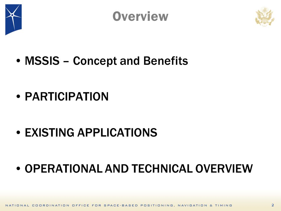 Overview MSSIS – Concept and Benefits PARTICIPATION