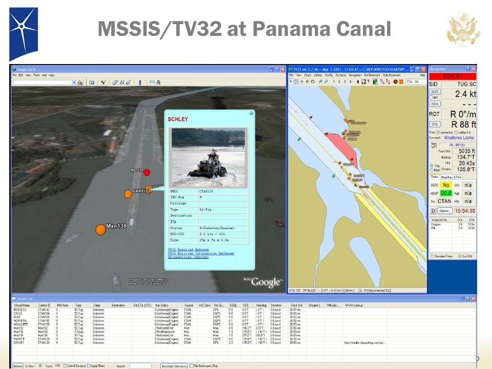 MSSIS/TV32 at Panama Canal