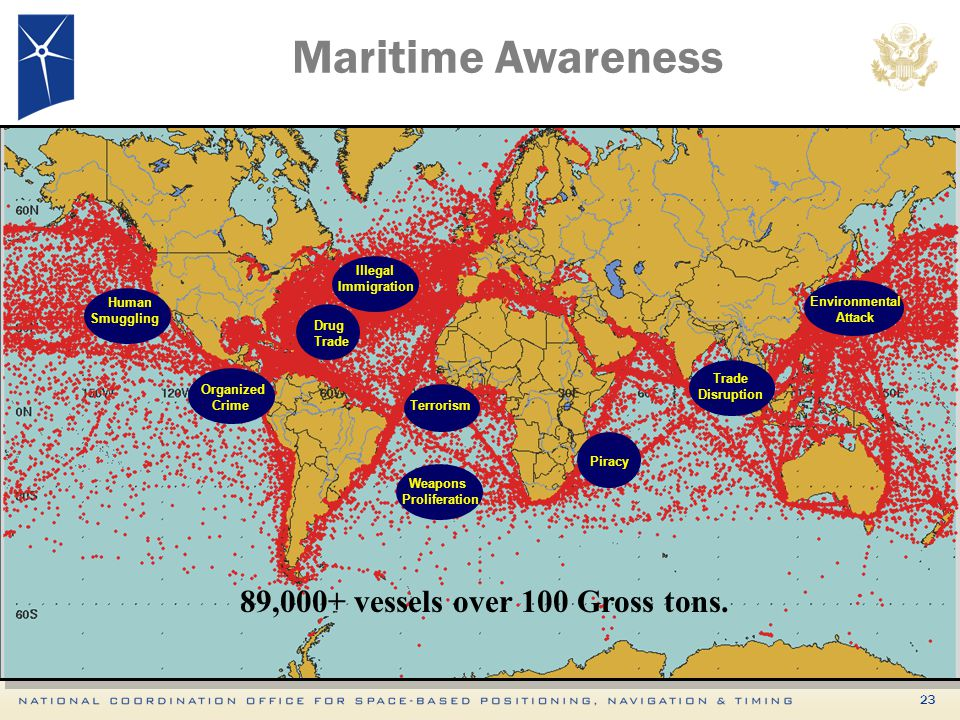89,000+ vessels over 100 Gross tons.
