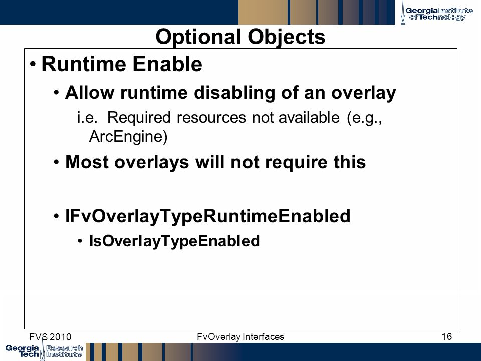 Optional Objects Runtime Enable Allow runtime disabling of an overlay