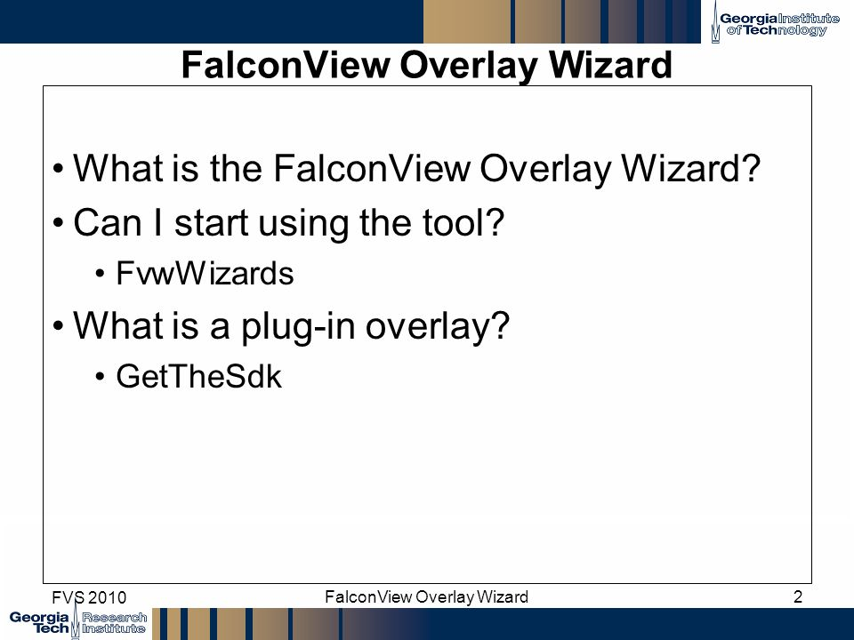 FalconView Overlay Wizard