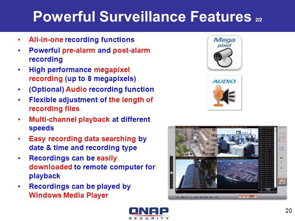 Powerful Surveillance Features 2/2