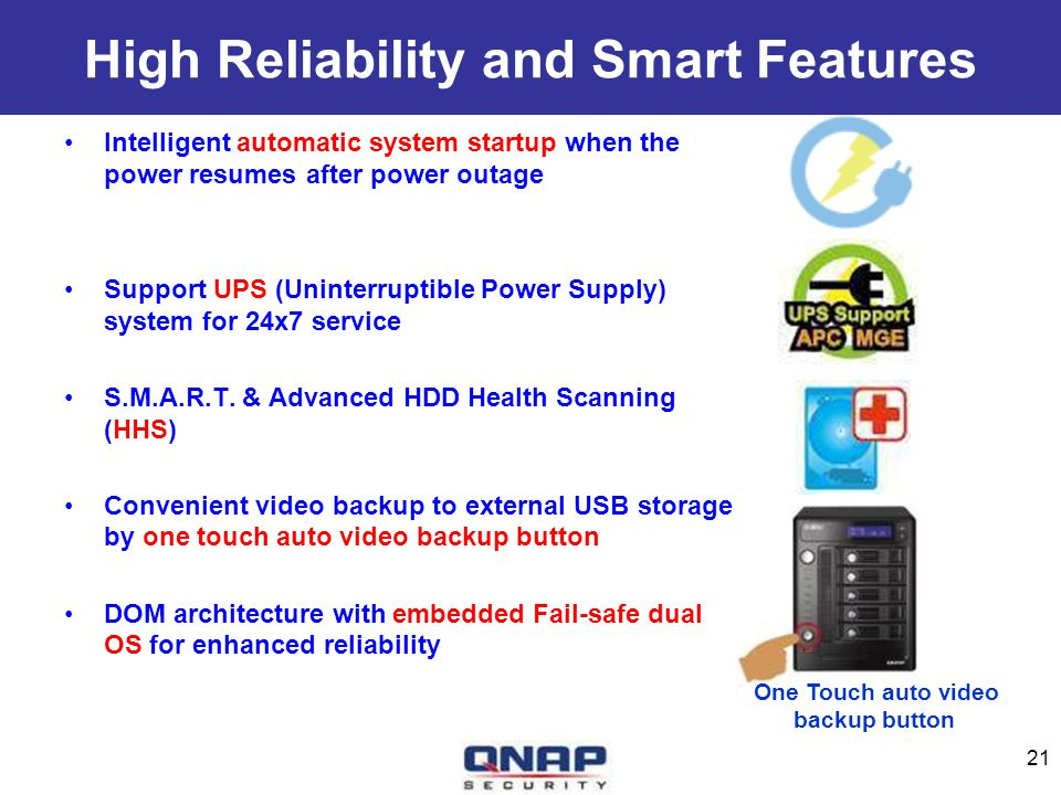 High Reliability and Smart Features