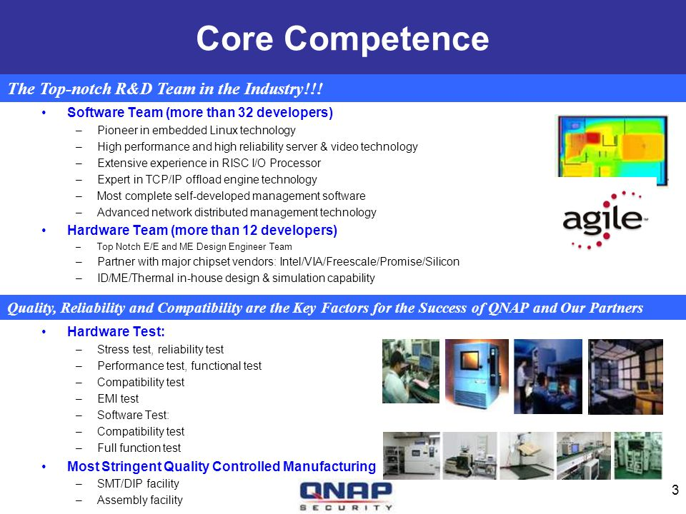 Core Competence The Top-notch R&D Team in the Industry!!!