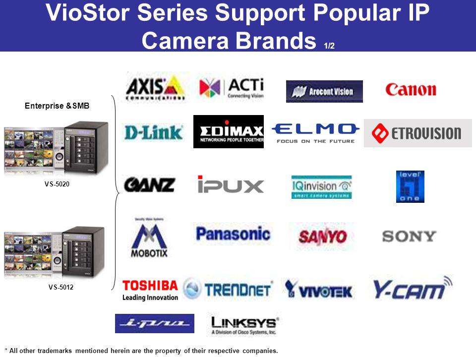VioStor Series Support Popular IP Camera Brands 1/2