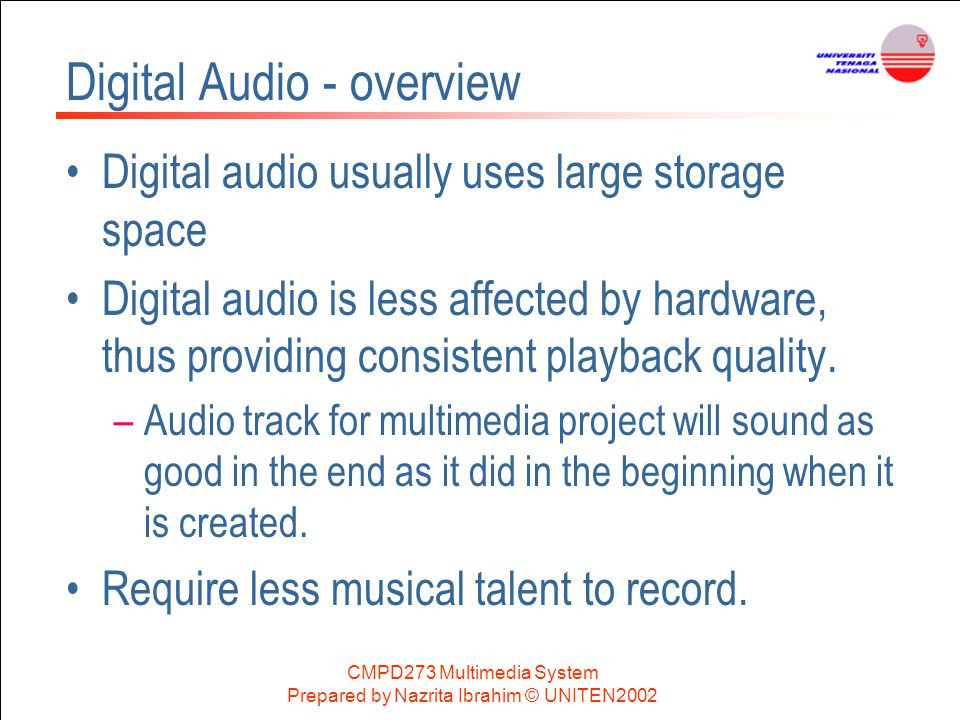 Digital Audio - overview