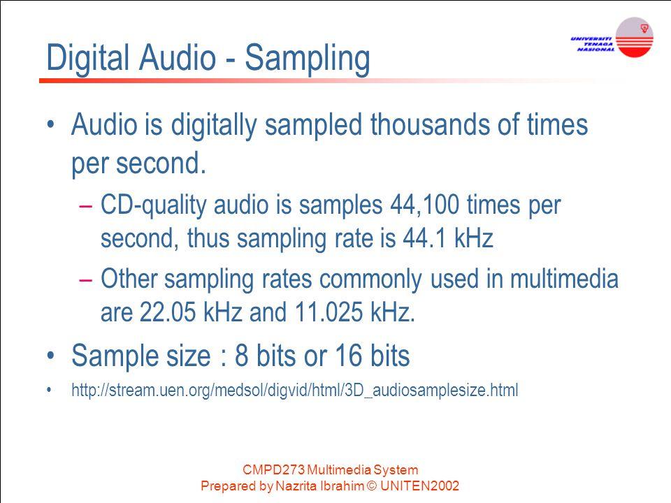 Digital Audio - Sampling