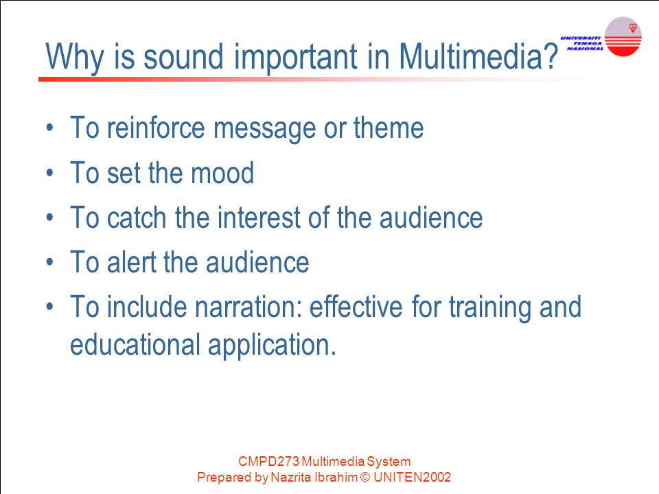 Why is sound important in Multimedia