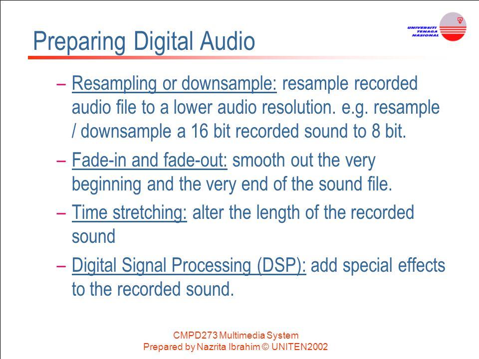 Preparing Digital Audio