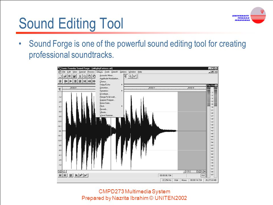 Sound Editing Tool Sound Forge is one of the powerful sound editing tool for creating professional soundtracks.