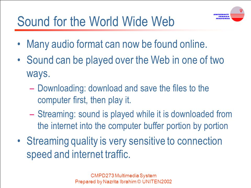 Sound for the World Wide Web