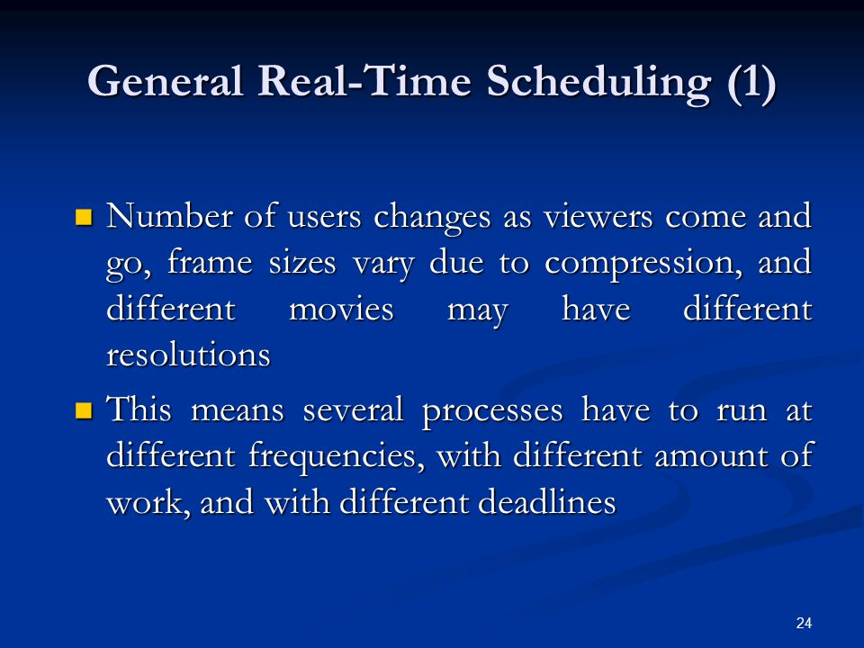 General Real-Time Scheduling (1)