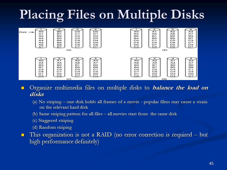 Placing Files on Multiple Disks