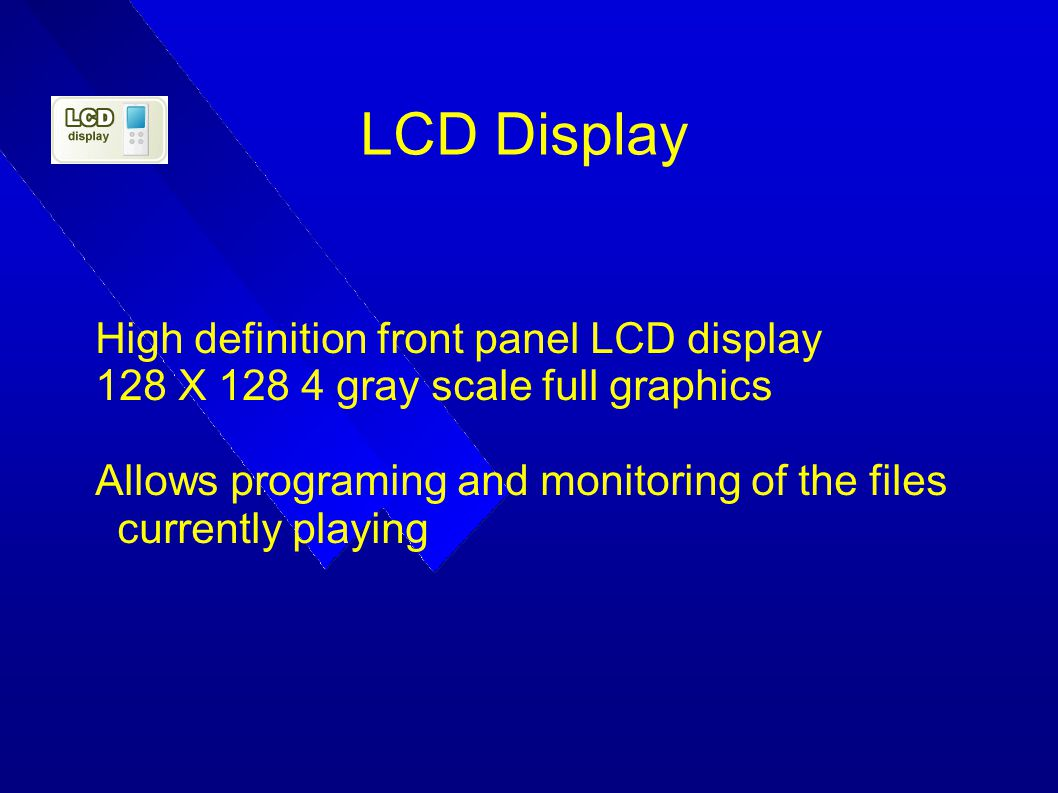 LCD Display High definition front panel LCD display