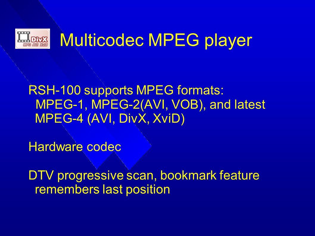 Multicodec MPEG player