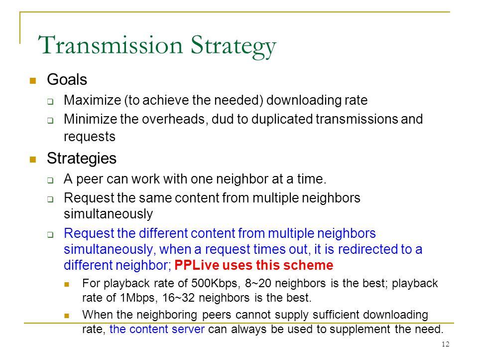 Transmission Strategy