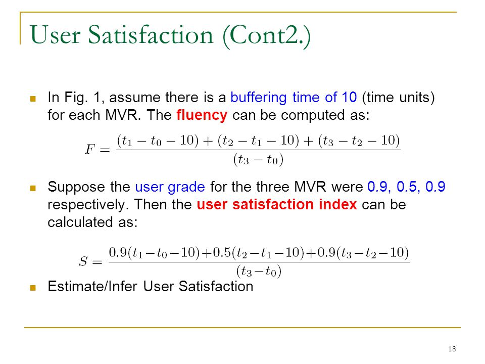 User Satisfaction (Cont2.)