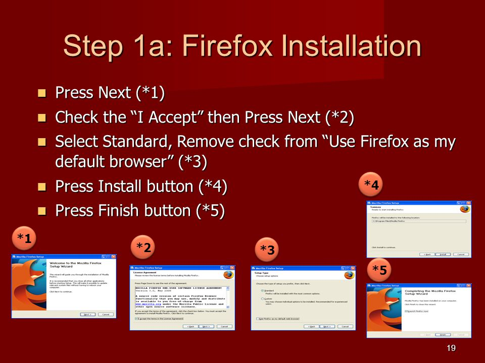 Step 1a: Firefox Installation
