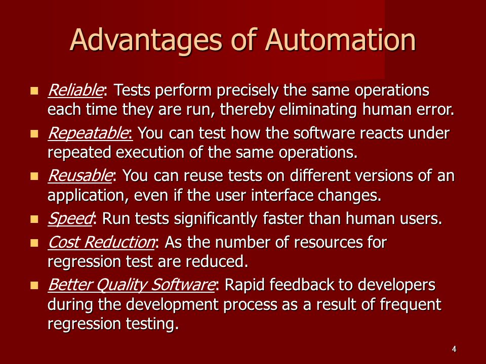 Advantages of Automation