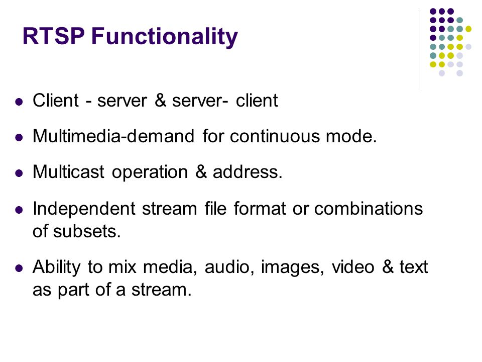 RTSP Functionality Client - server & server- client