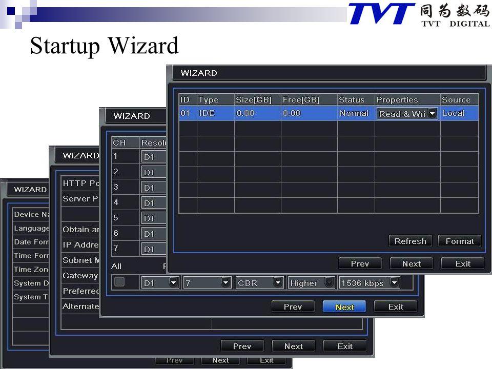 Startup Wizard