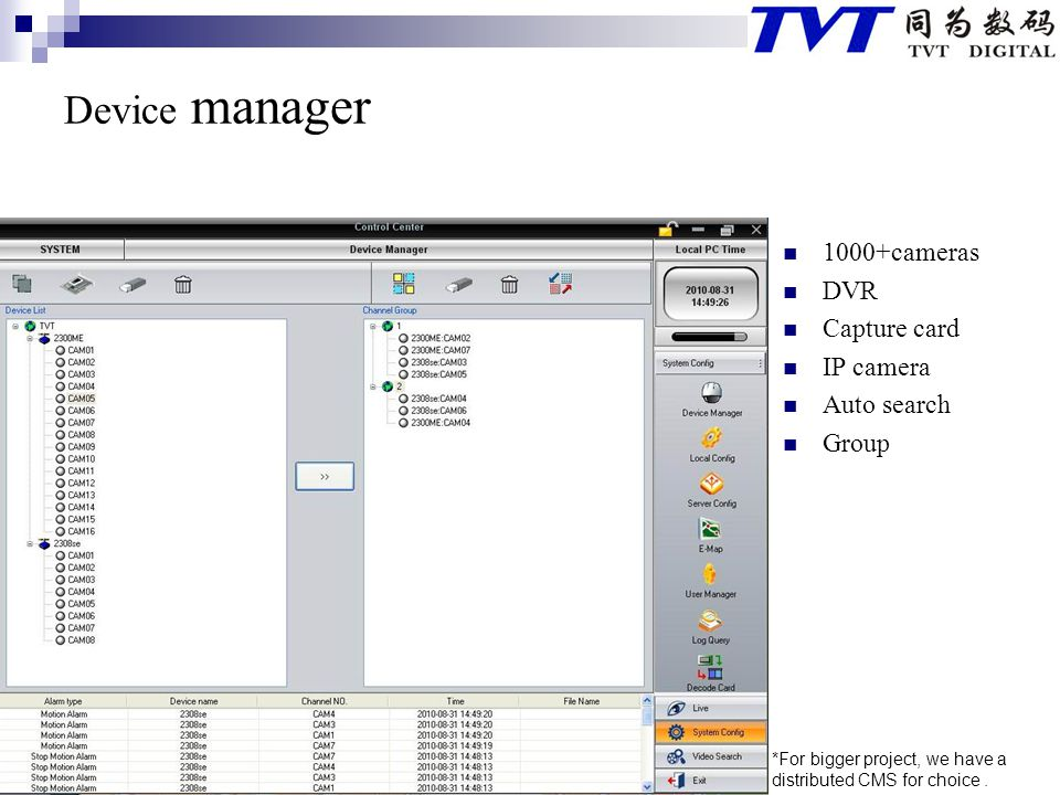 Device manager 1000+cameras DVR Capture card IP camera Auto search