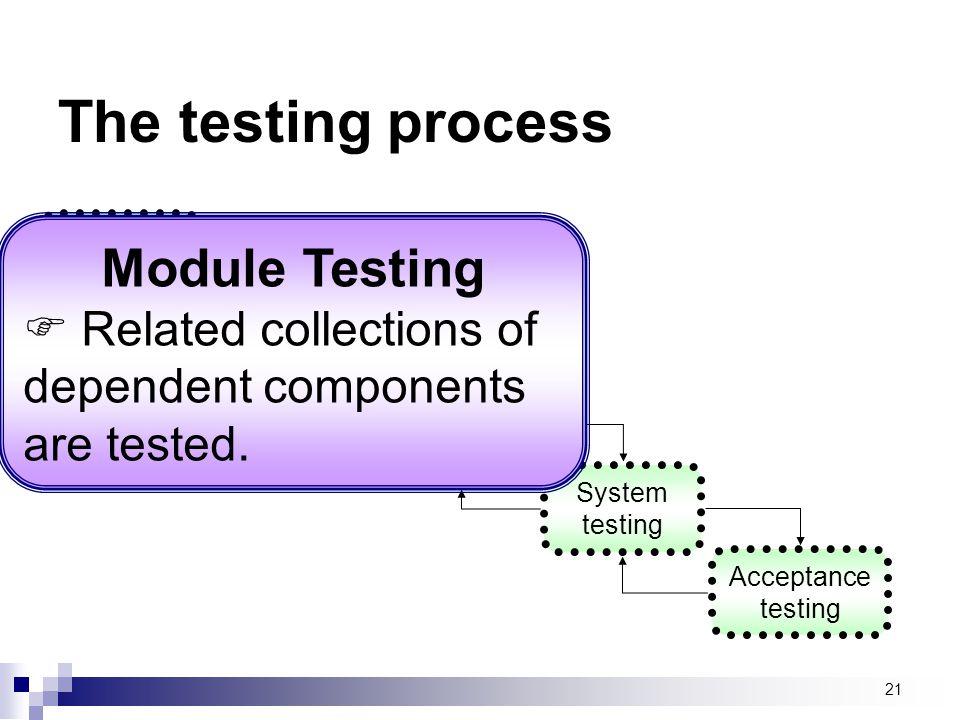 The testing process Module Testing