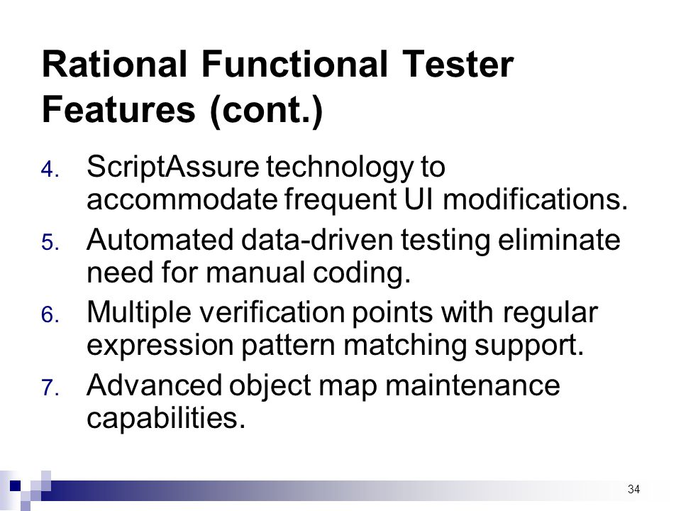 Rational Functional Tester Features (cont.)