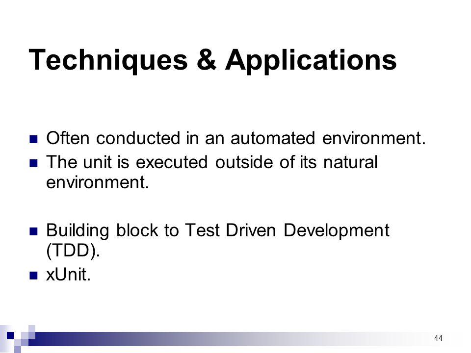 Techniques & Applications