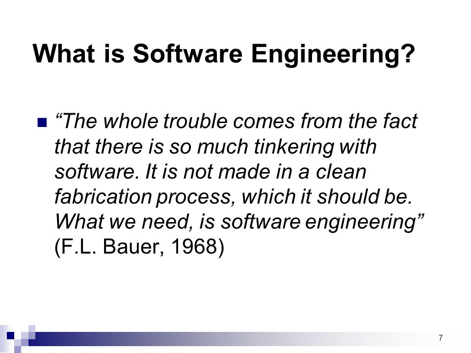 What is Software Engineering