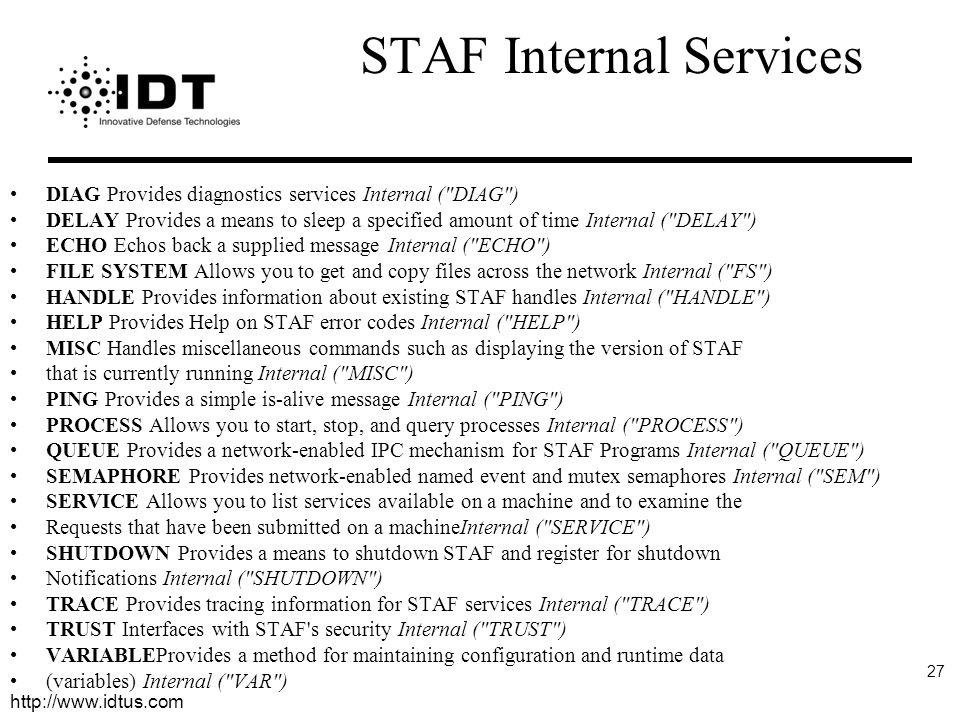 STAF Internal Services