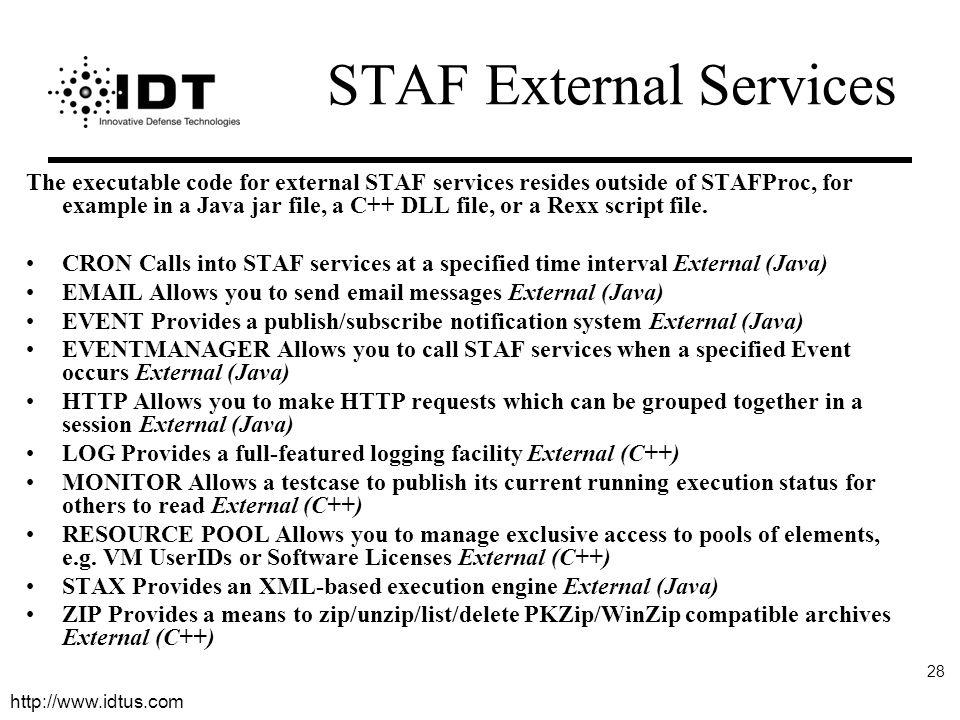 STAF External Services