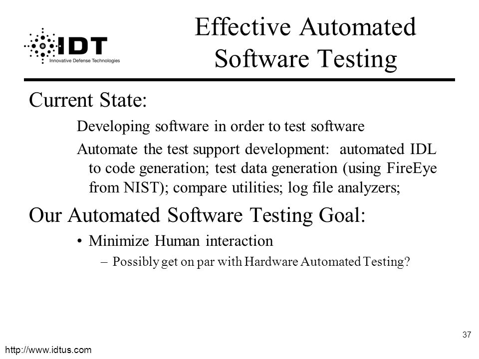 Effective Automated Software Testing