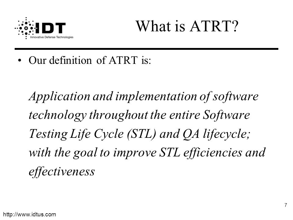 What is ATRT Our definition of ATRT is: