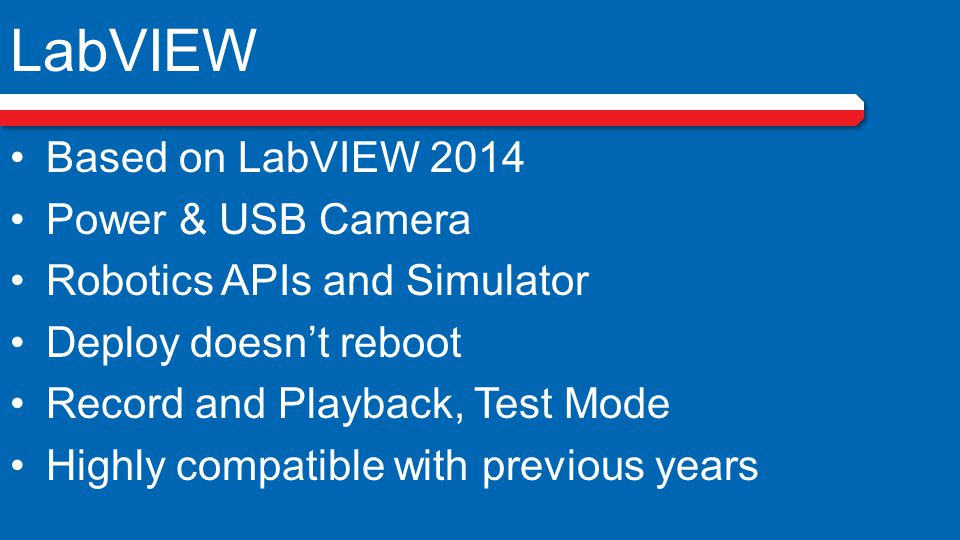 LabVIEW Based on LabVIEW 2014 Power & USB Camera