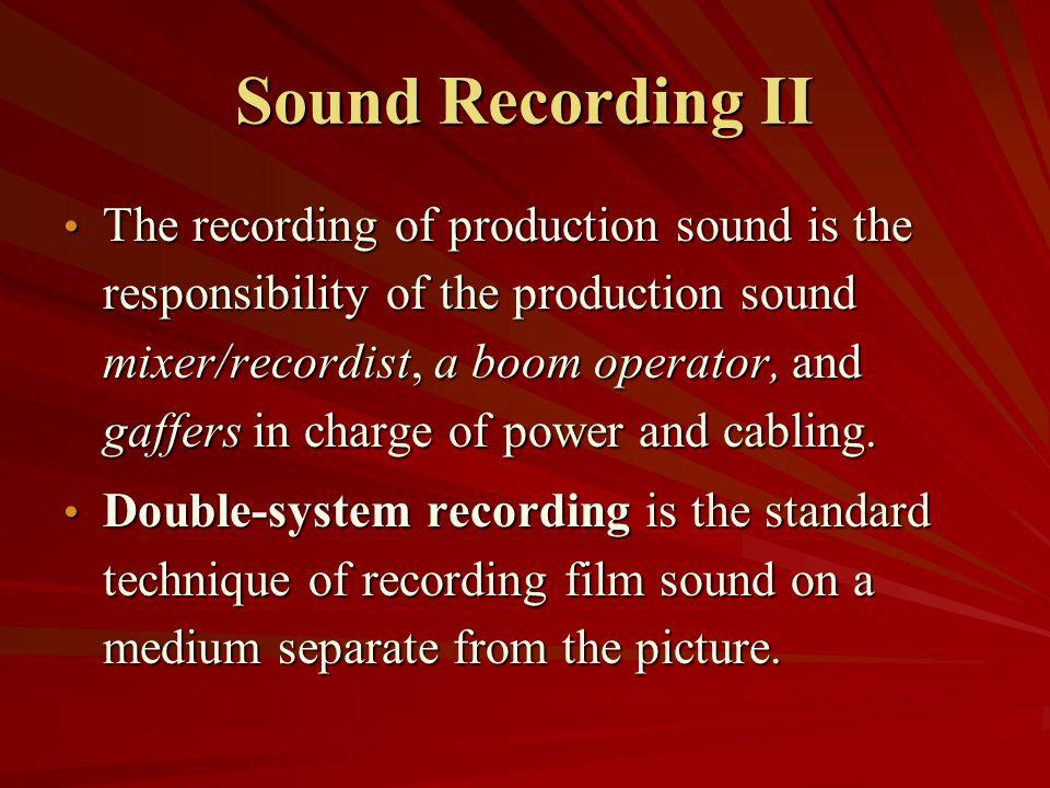 Sound Recording II