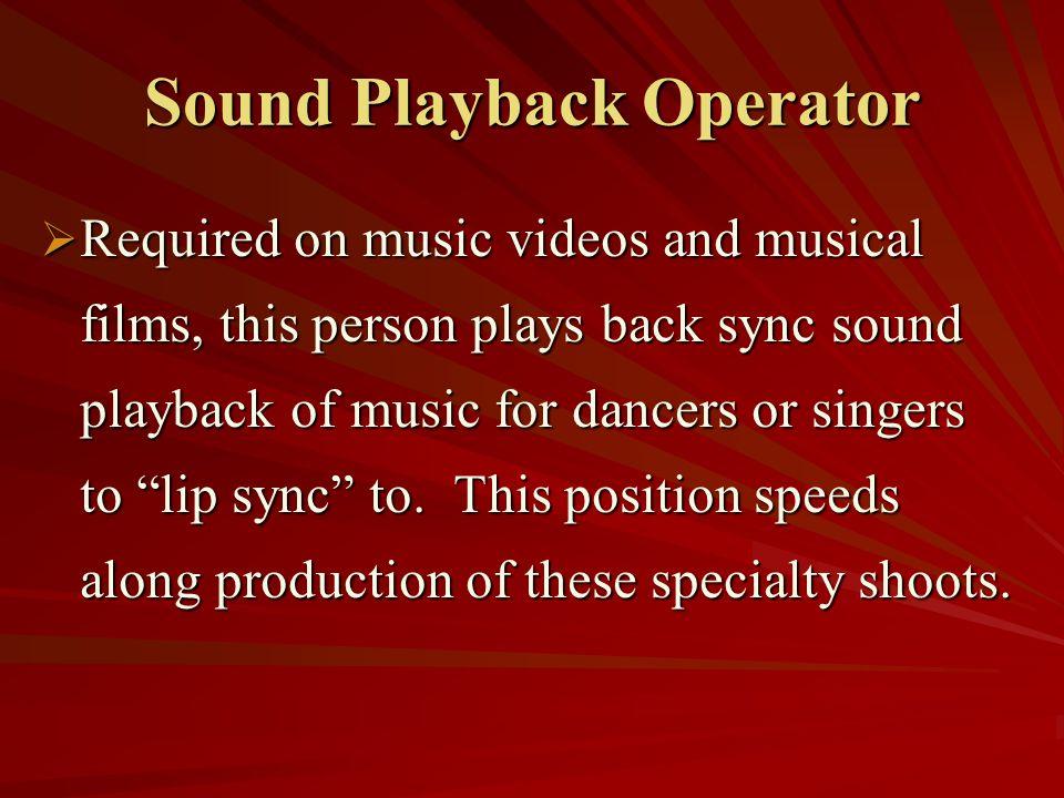Sound Playback Operator