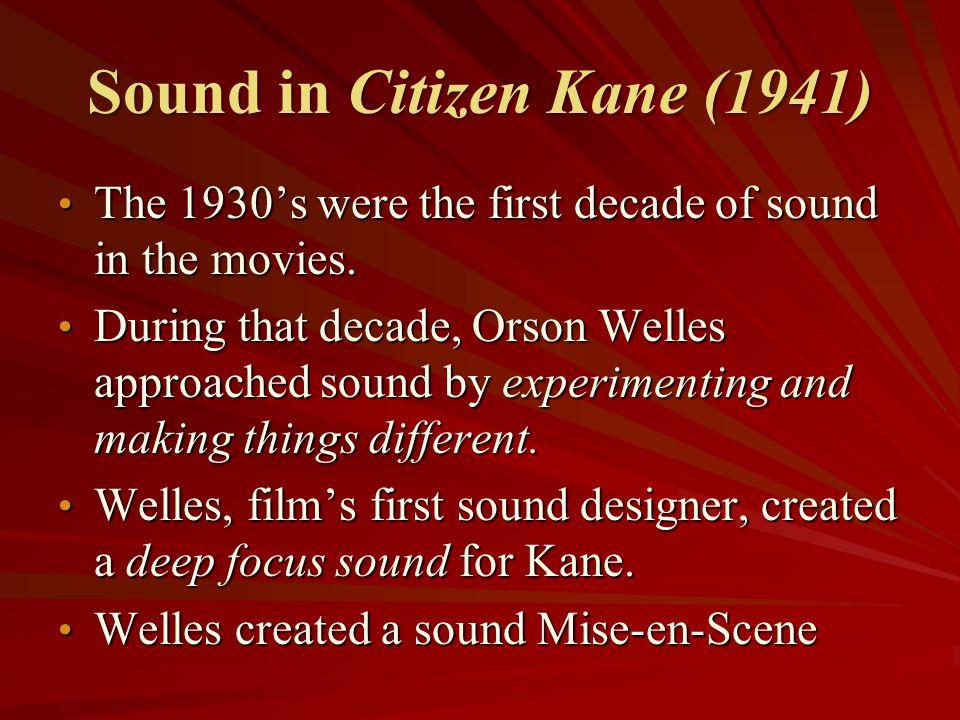 Sound in Citizen Kane (1941)