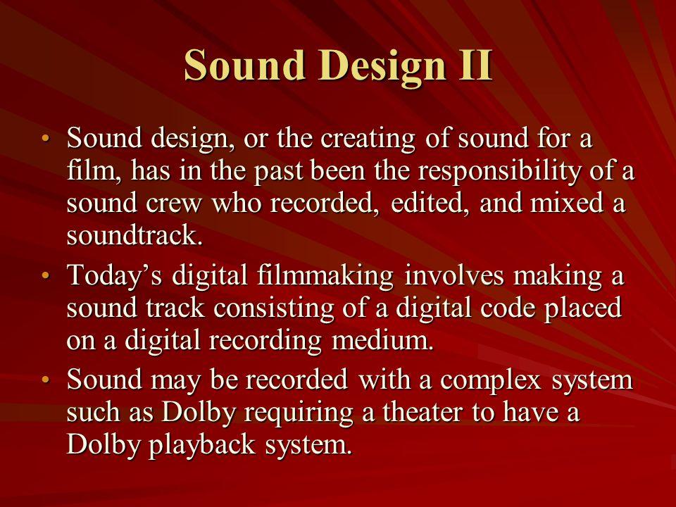 Sound Design II