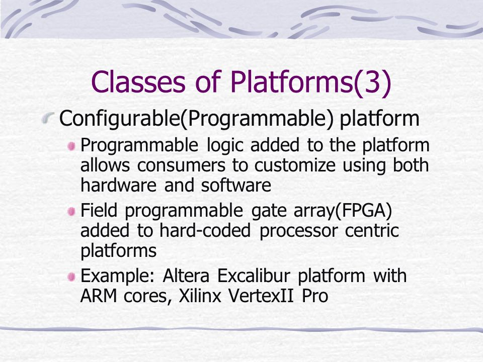 Classes of Platforms(3)