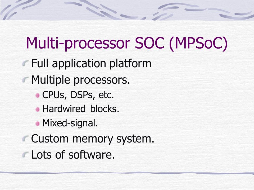 Multi-processor SOC (MPSoC)