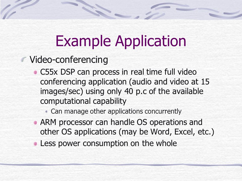 Example Application Video-conferencing