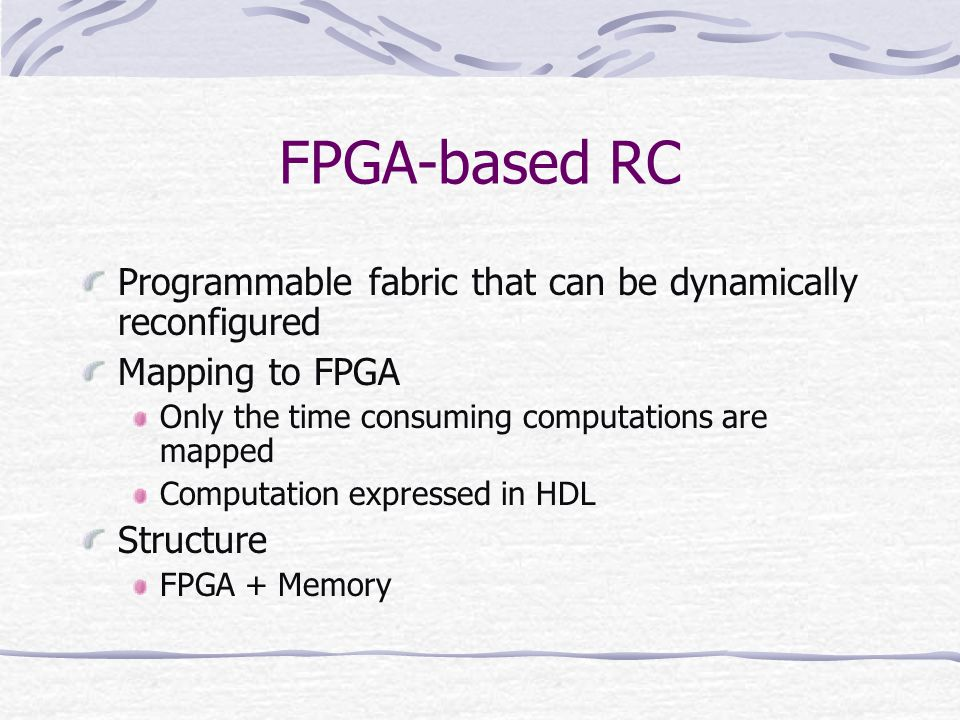 FPGA-based RC Programmable fabric that can be dynamically reconfigured